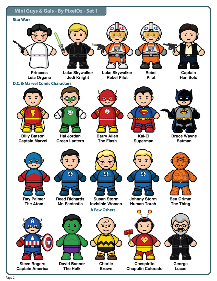 Clipart people of us svg free library Mini-Guys And Gals Clipart Set 1 by PixelOz on DeviantArt svg free library
