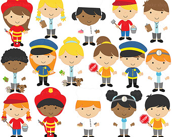 Clipart people of us clip art library library Community Helper Black And White Clipart - Clipart Kid clip art library library