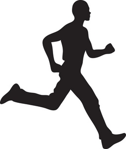 Clipart people running picture black and white stock 68+ People Running Clipart | ClipartLook picture black and white stock