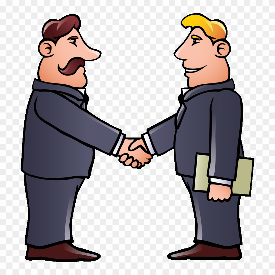 Clipart people shaking hands svg black and white stock Home - 2 People Shaking Hands Cartoon Clipart (#773598) - PinClipart svg black and white stock