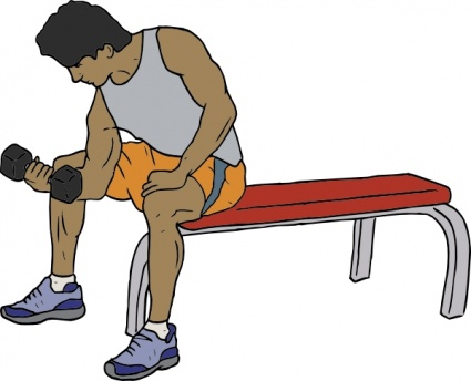 Clipart people working out vector library stock Man working out clipart - ClipartFox vector library stock