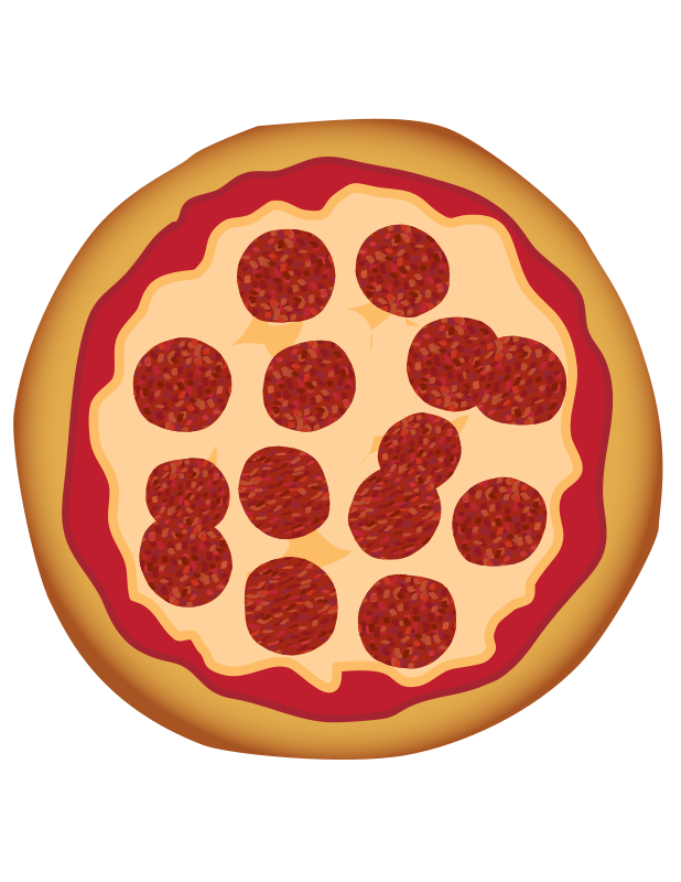 Clipart pepperoni picture library stock Free Clipart: Pepperoni Pizza | toons4biz picture library stock