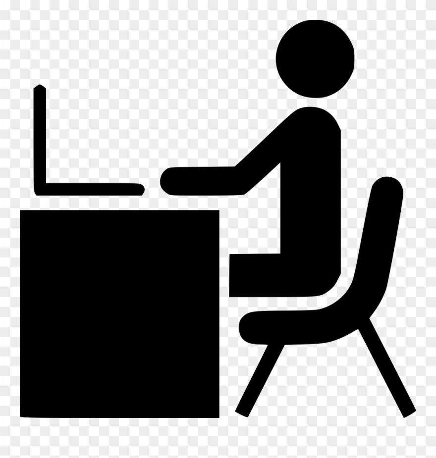 Clipart person at computer clip art download Advertisement Clipart Computer Worker - Person At Desk Icon Vector ... clip art download