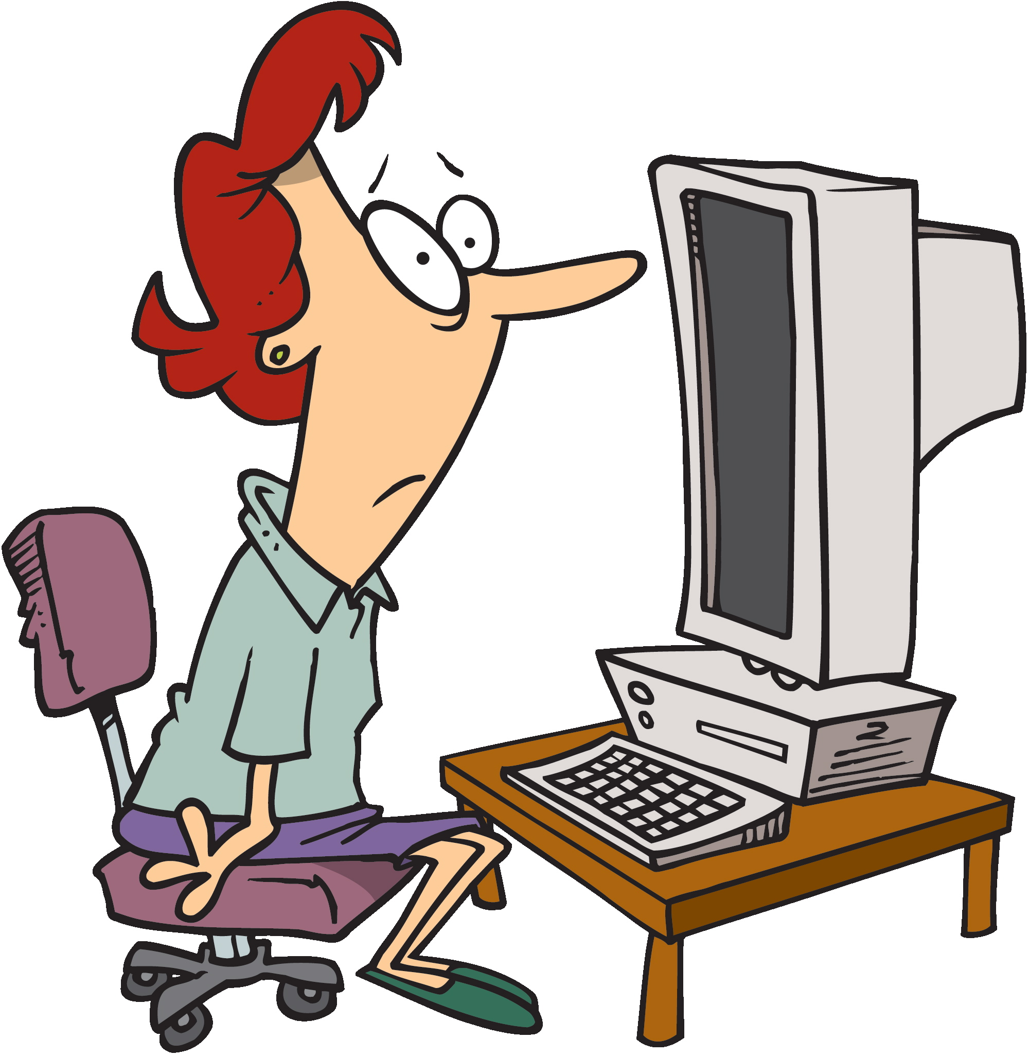 Clipart person at computer svg library stock Person Using Computer Clipart | Free download best Person Using ... svg library stock