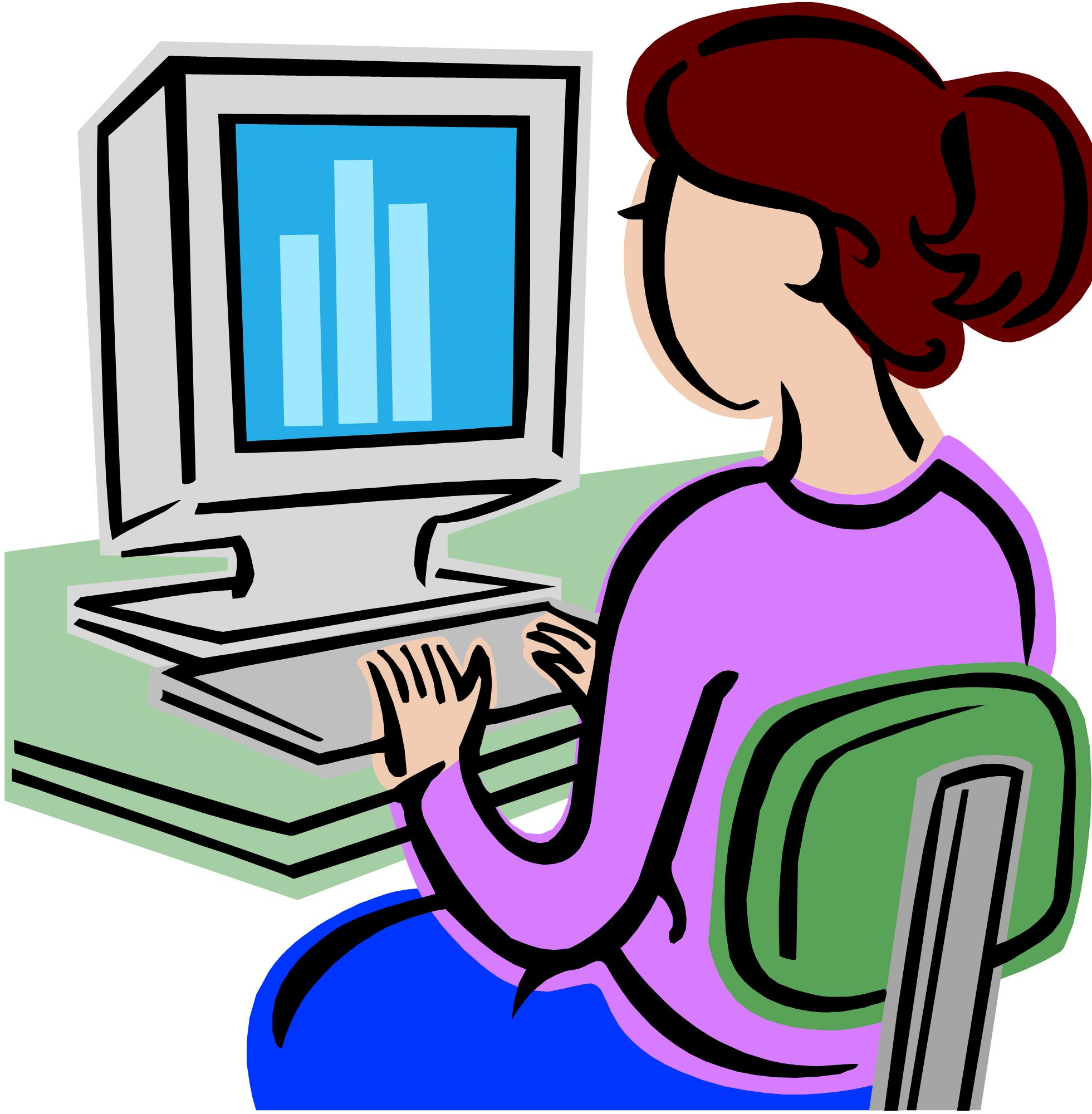 Computer users clipart