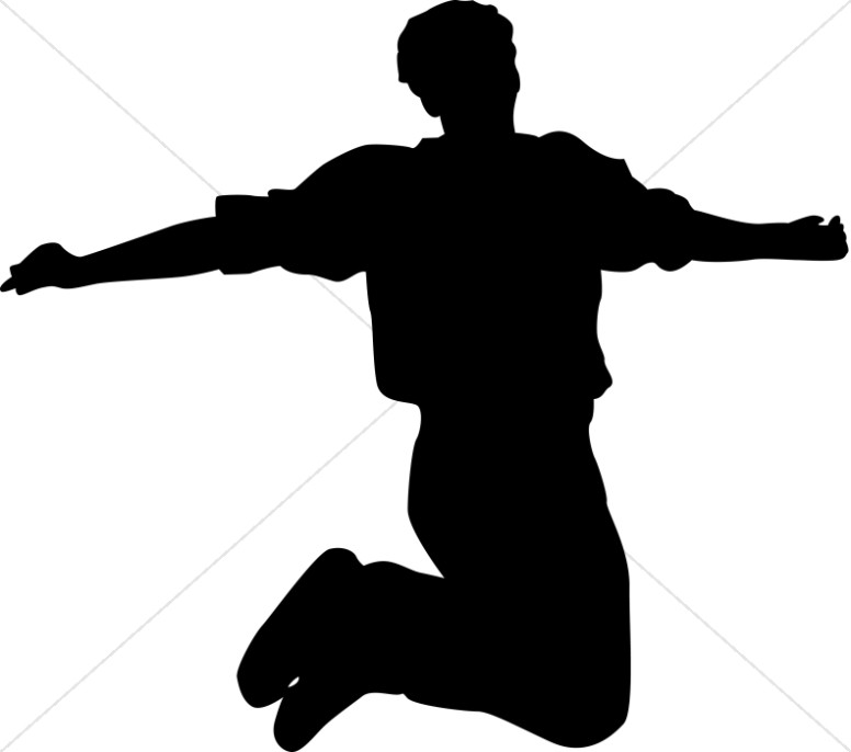 Clipart person jump hands up video png free Praise Clipart, Praise Image, Praise Graphic - Sharefaith png free