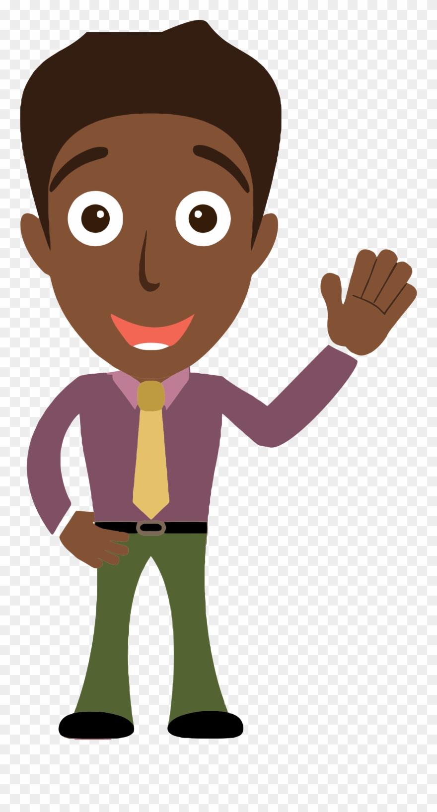 Clipart person png clip freeuse Sensational Idea Person Clip Art Clipart - Cartoon Man Saying Hello ... clip freeuse