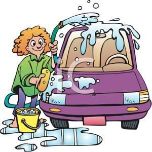 Kids washing a car clipart - ClipartFest clip