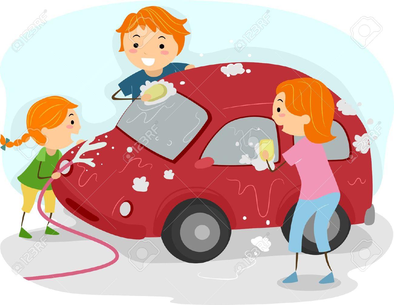 Boy washing car clipart - ClipartFox clip stock