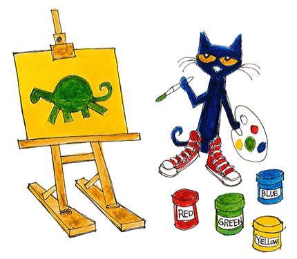 Clipart pete the cat walking in shoes clip freeuse Pete The Cat Rocking In My School Shoes Activities Png - AZPng clip freeuse