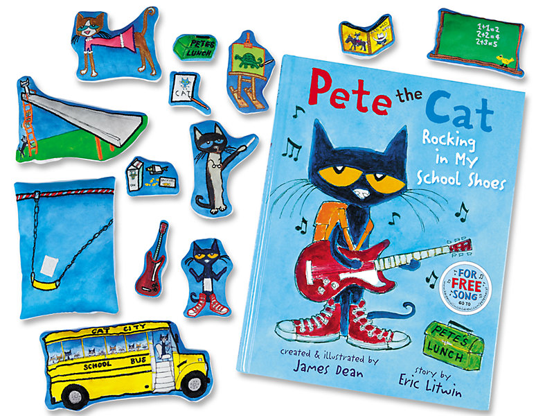 Clipart pete the cat walking in shoes jpg transparent library Pete the Cat: Rocking in My School Shoes Storytelling Kit jpg transparent library