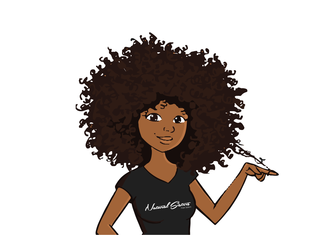 Clipart pf animated black woman at hair salon clipart library Natural Sisters – Hair Salon clipart library