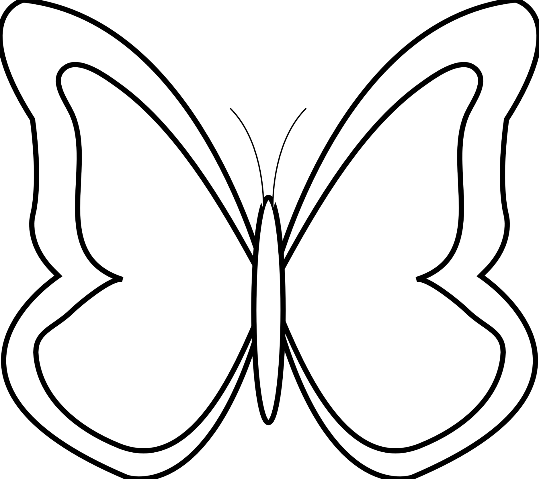 Clipart phorn movies picture transparent stock Butterfly Clipart Black And White. Royalty-Free (RF) Black And White ... picture transparent stock