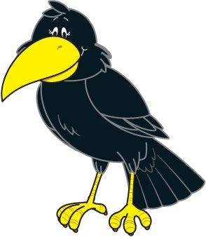 Clipart phorn graphic black and white download Crow Clip Art | learning | Applique templates, Free clipart images ... graphic black and white download