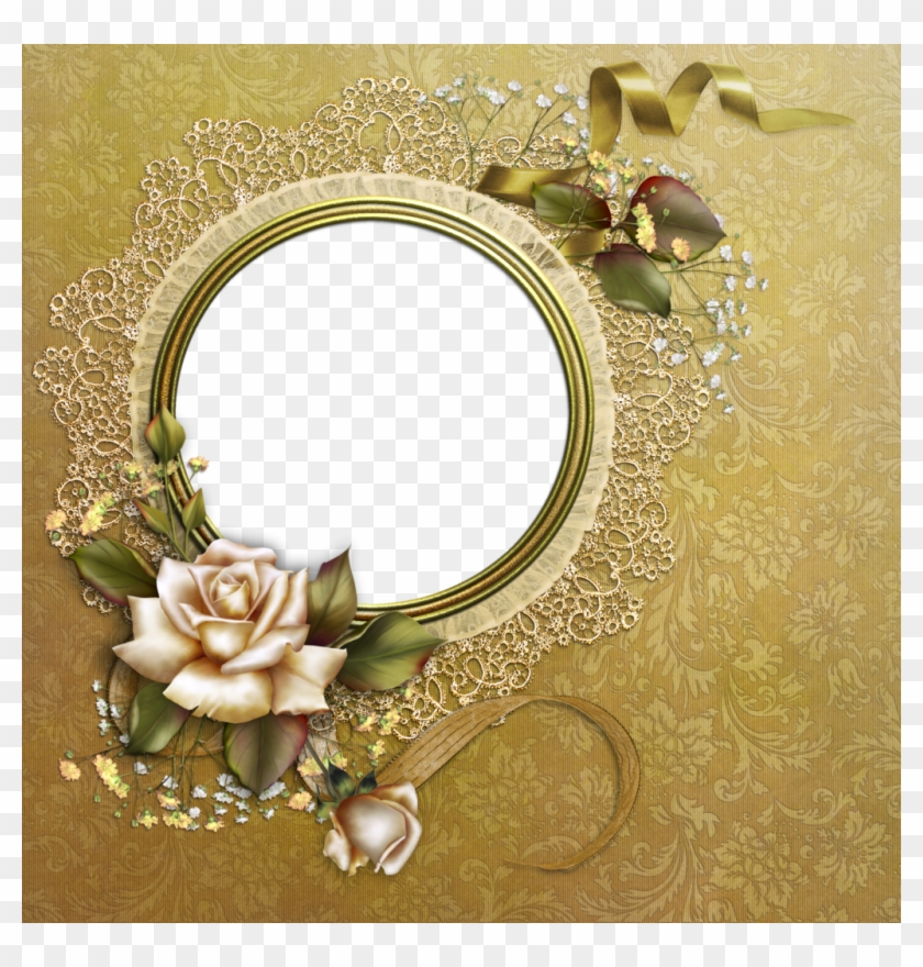 Clipart photo frame hd picture download Yellow Rose Clipart Gold Frame, HD Png Download - 1024x1024(#1469327 ... picture download