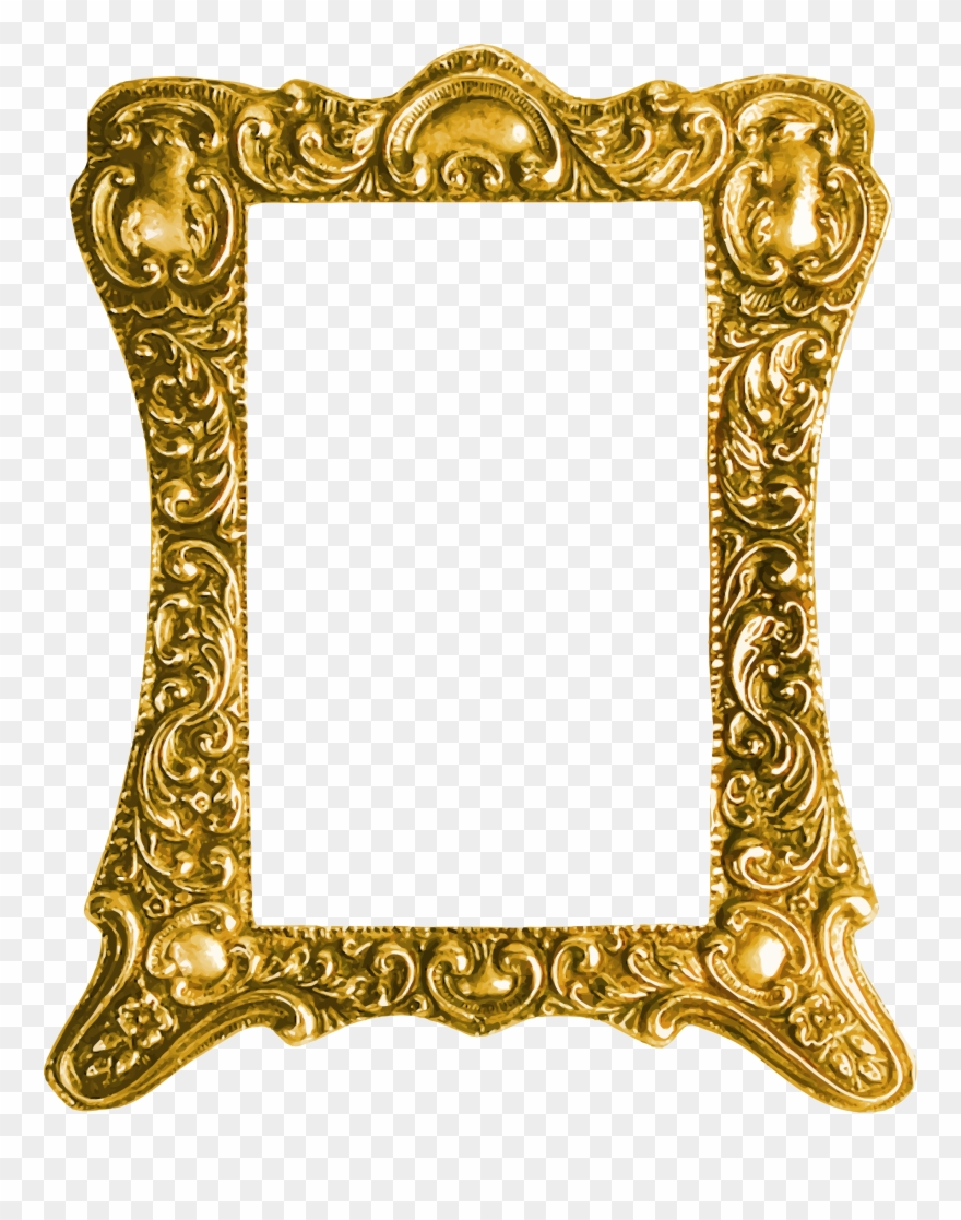 Clipart photo frame hd png free Big Image - Frame Gold Png Hd Clipart (#507650) - PinClipart png free