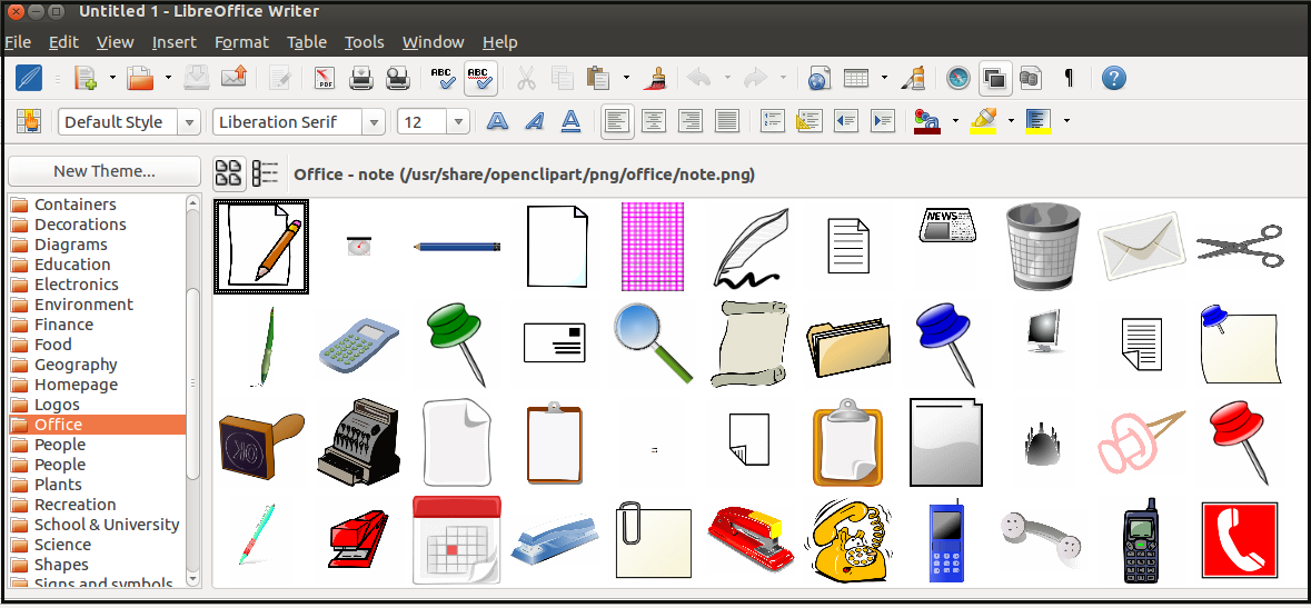 Clipart photo gallery vector transparent How to install and add Clip Arts in LibreOffice - DebugPoint.com vector transparent