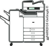 Clipart photocopier clipart black and white stock Photocopier Clip Art - Royalty Free - GoGraph clipart black and white stock