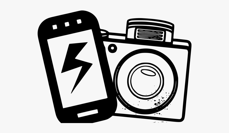 Clipart photography text vector black and white stock Photography Clipart Phone Camera - Iphone Camera Clip Art #208419 ... vector black and white stock