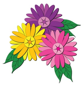 Clipart photos of flowers. Flower image cluster