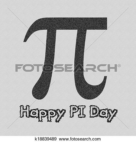 Stock Illustration of Happy Pi Day k18839489 - Search Vector ... svg black and white stock