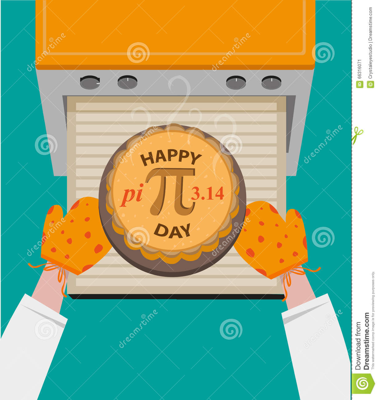 Happy Pi Day Concept Observed Every March 14. Editable Clip Art ... clip royalty free