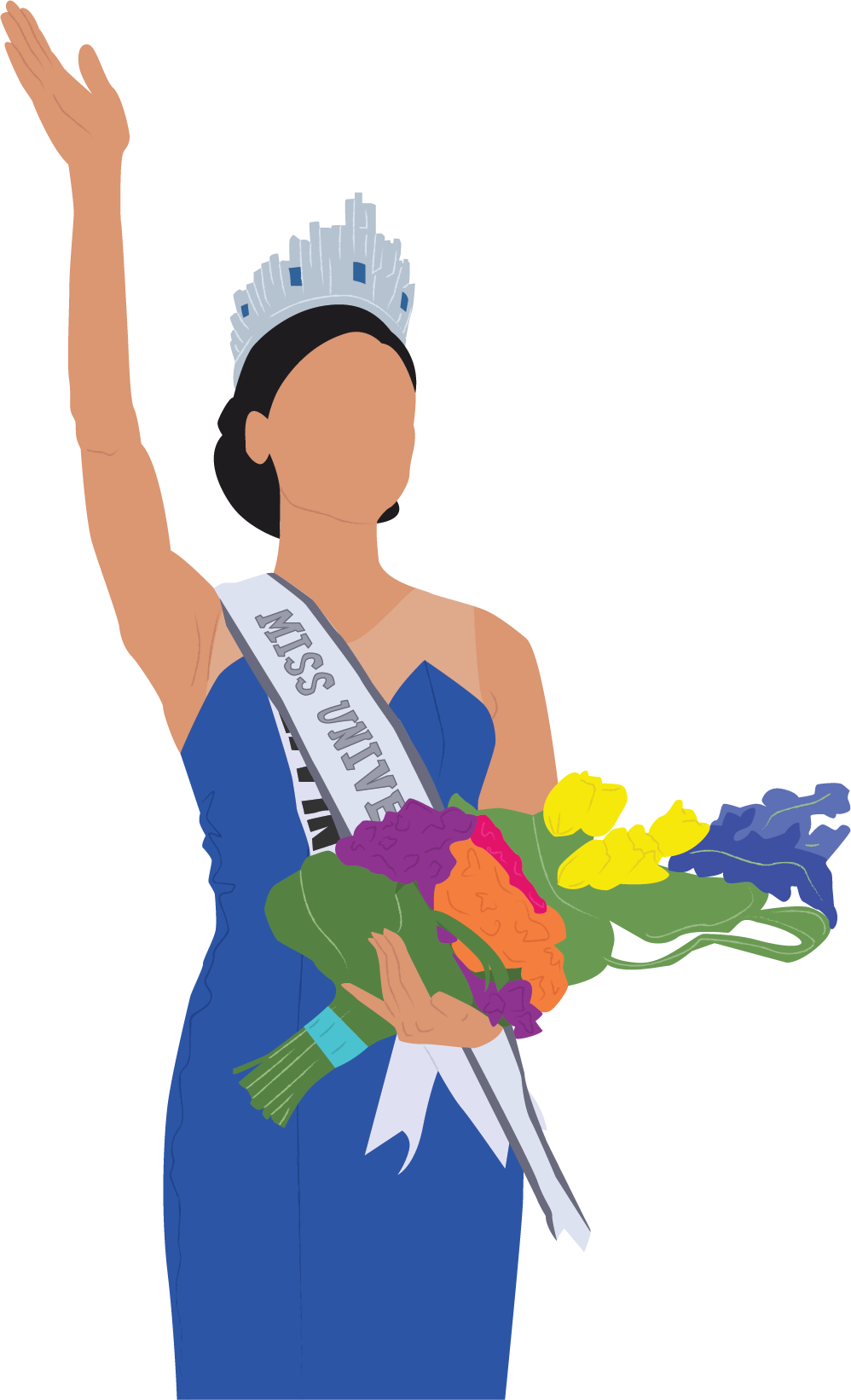 Clipart pia banner transparent download Pia Wurtzbach Is Rightfully Crowned Miss Universe - Illustration ... banner transparent download