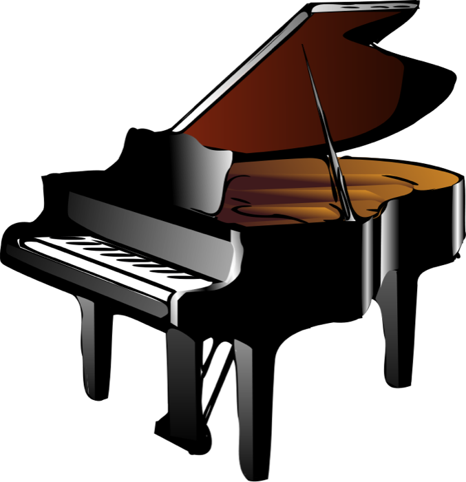 Clipart piano gratuit vector Keyboard and Piano Clipart vector