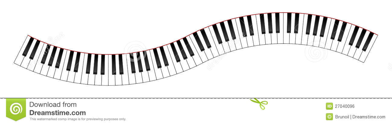 Clipart piano key cover free Curved Piano Keyboard Royalty Free Stock Image - Image: 27040096 free