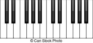Clipart piano key cover clip download Piano key clipart - ClipartFest clip download