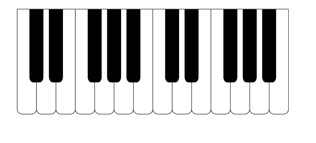 Clipart piano key cover image black and white download Piano Keys Clip Art & Piano Keys Clip Art Clip Art Images ... image black and white download