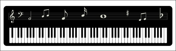 Clipart piano key cover banner royalty free library Piano Keys Clip Art & Piano Keys Clip Art Clip Art Images ... banner royalty free library
