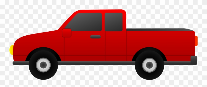 Pickup truck clipart vector black and white Clip Arts Related To - Red Pickup Truck Clipart - Png Download ... vector black and white