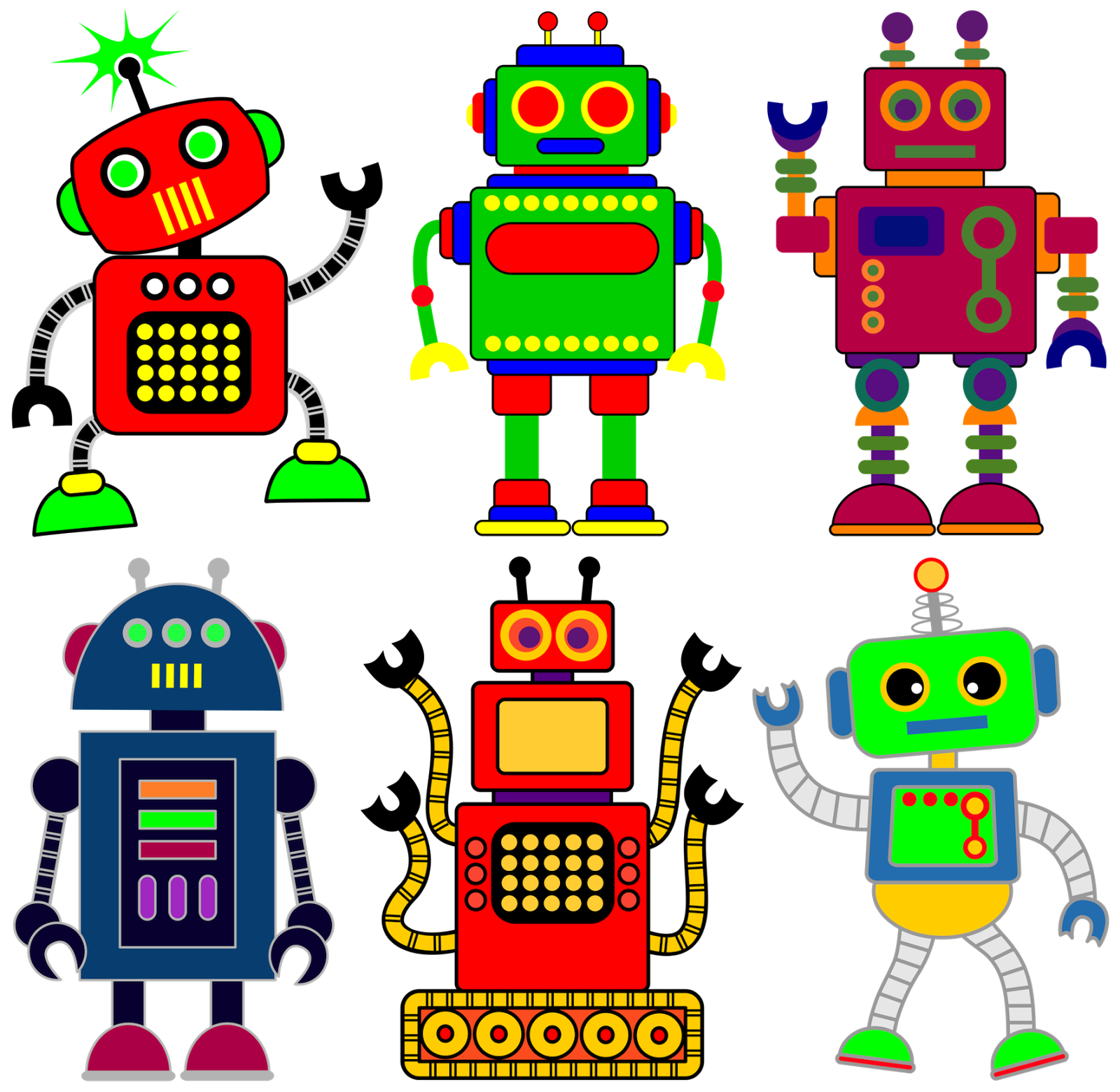 Robot cat clipart picture royalty free stock Robot clipart for your project or classroom. Free PNG files that ... picture royalty free stock