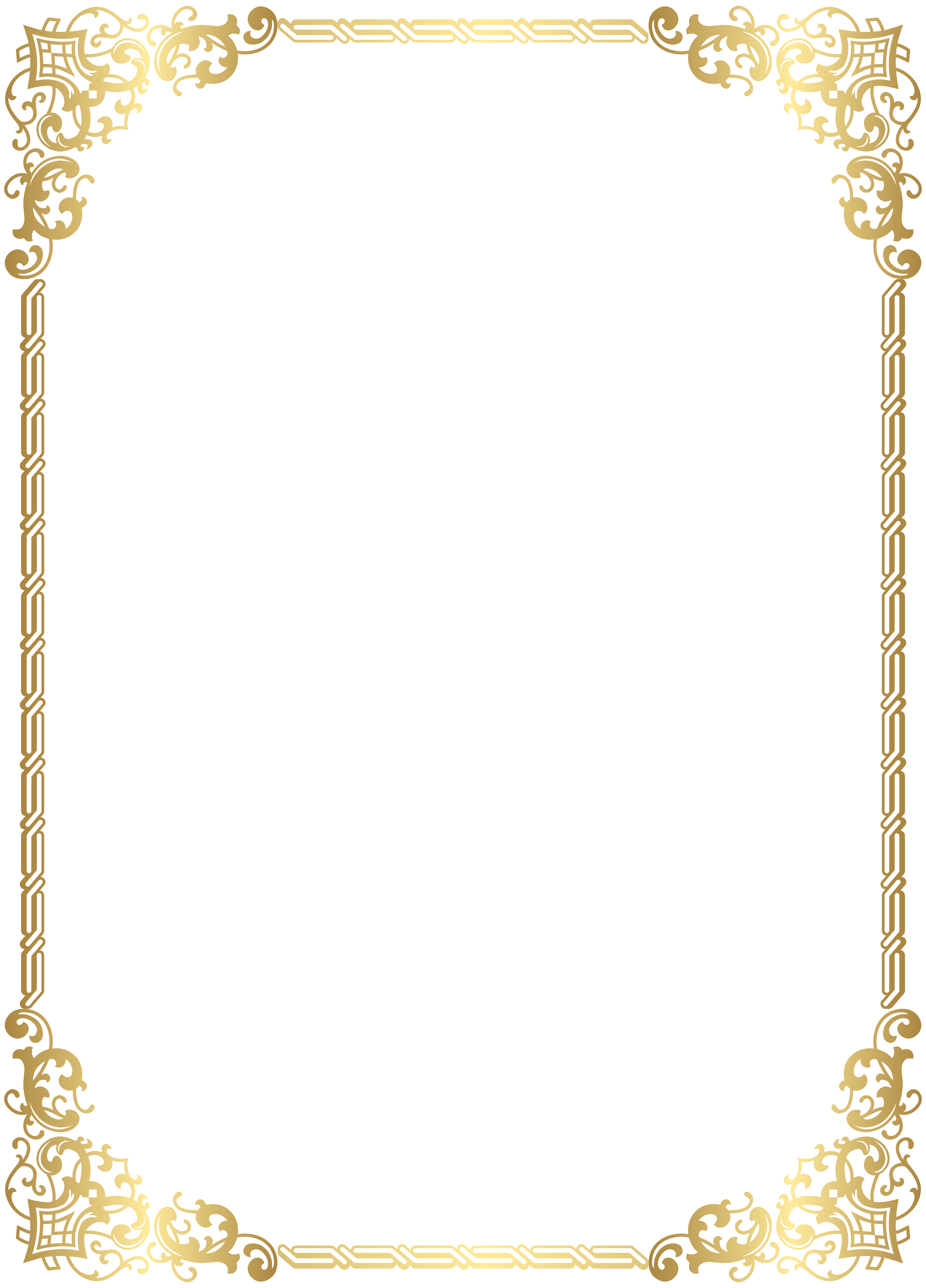 Free blank book template png transparent background clipart vector 3d svg black and white download Gold Border Frame Transparent Clip Art Image | Gallery Yopriceville ... svg black and white download