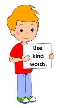 Clipart picture kind words