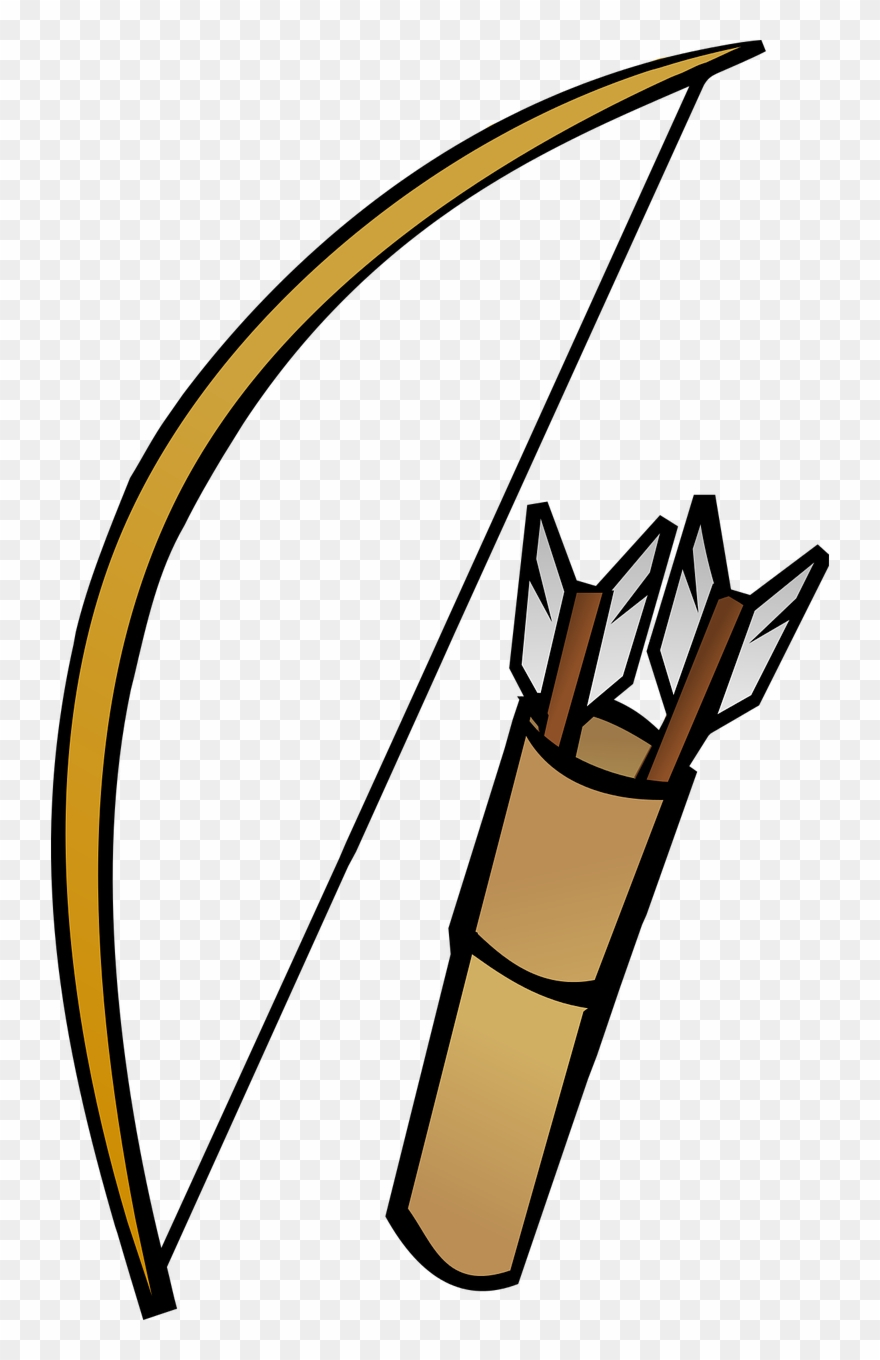 Clipart picture of a bow and arrow jpg black and white library Bow And Quiver - Bow And Arrow Clipart - Png Download (#175255 ... jpg black and white library