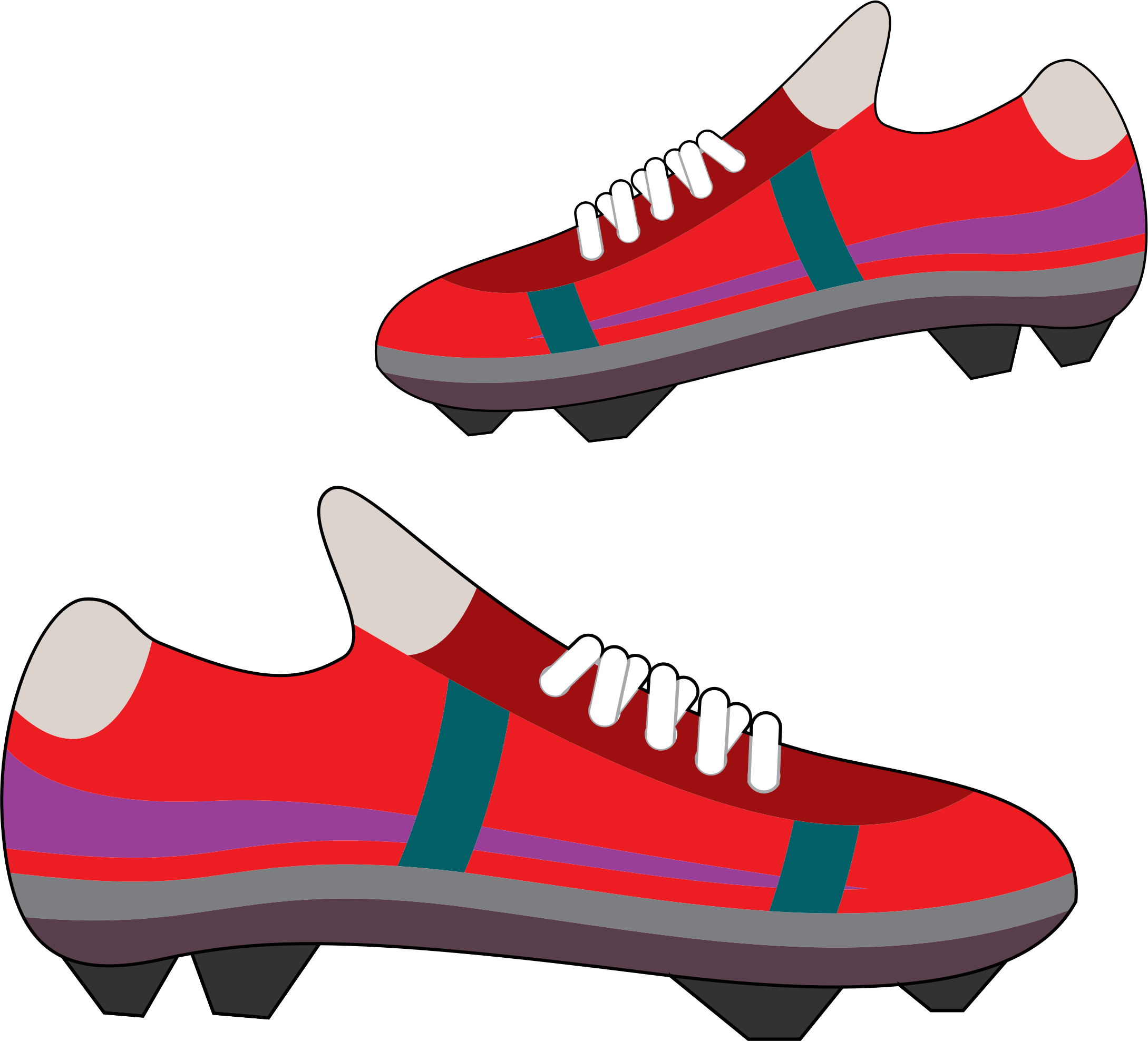 Clipart picture of a football picture royalty free library Clipart - Football Shoes picture royalty free library