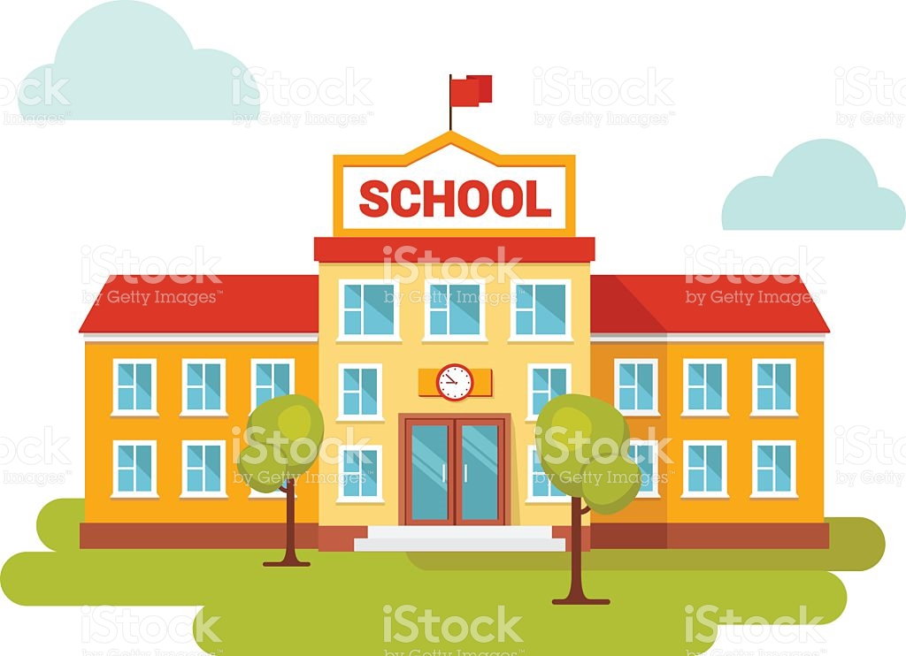 Clipart picture of a school black and white download School building clipart 3 » Clipart Station black and white download
