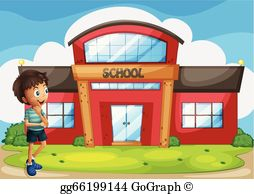 Clipart picture of a school graphic library stock School Building Clip Art - Royalty Free - GoGraph graphic library stock