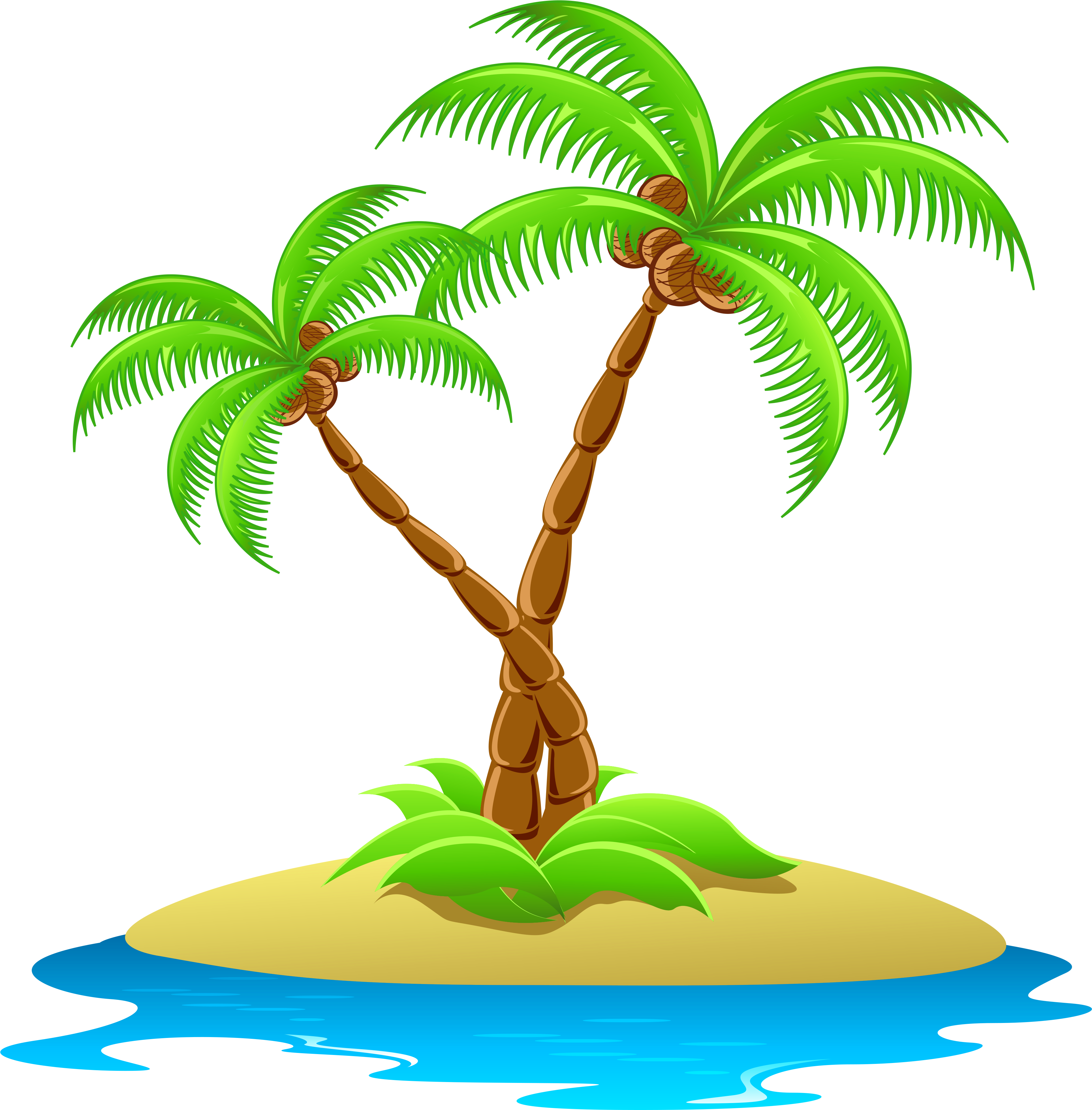Clipart picture of an island vector transparent download HD Island With Palm Trees Transparent - Island Clipart , Free ... vector transparent download