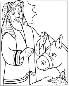 Clipart picture of balaam and the talking donkey image freeuse library 54 Best Balaam and the Talking Donkey images in 2018 | Sunday school ... image freeuse library