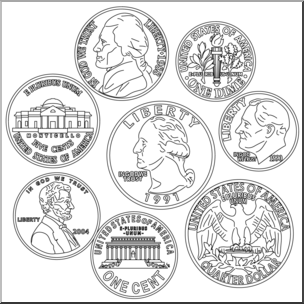 Clipart picture of coins in black and white picture library stock Coins black and white clipart 1 » Clipart Portal picture library stock