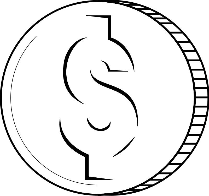 Clipart picture of coins in black and white image freeuse Coins clip art black and white free clipart images - ClipartAndScrap image freeuse