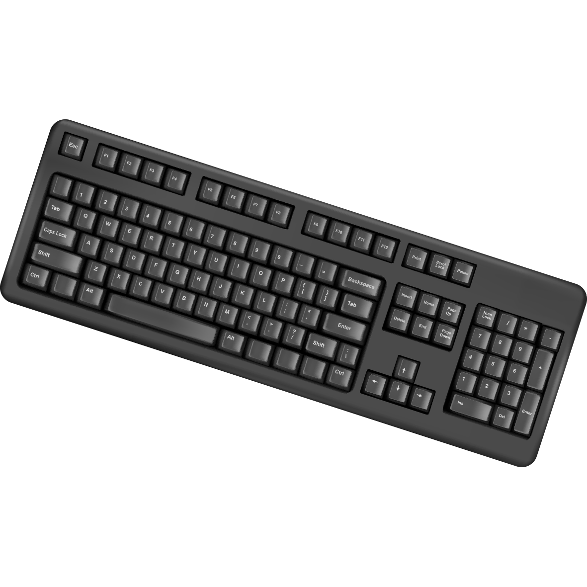 Computer keyboard clip art banner black and white library Computer keyboard Laptop PS/2 port Clip art - Creative black ... banner black and white library