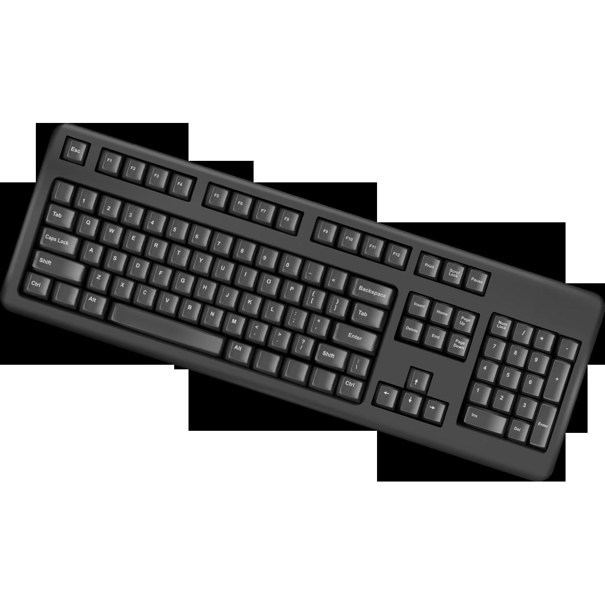 Computer keyboard clipart free image free download Computer keyboard Laptop PS/2 port Clip art - Creative black ... image free download