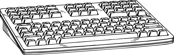 Clipart picture of computer keyboard vector royalty free library Keyboard Clip Art & Keyboard Clip Art Clip Art Images - ClipartALL.com vector royalty free library