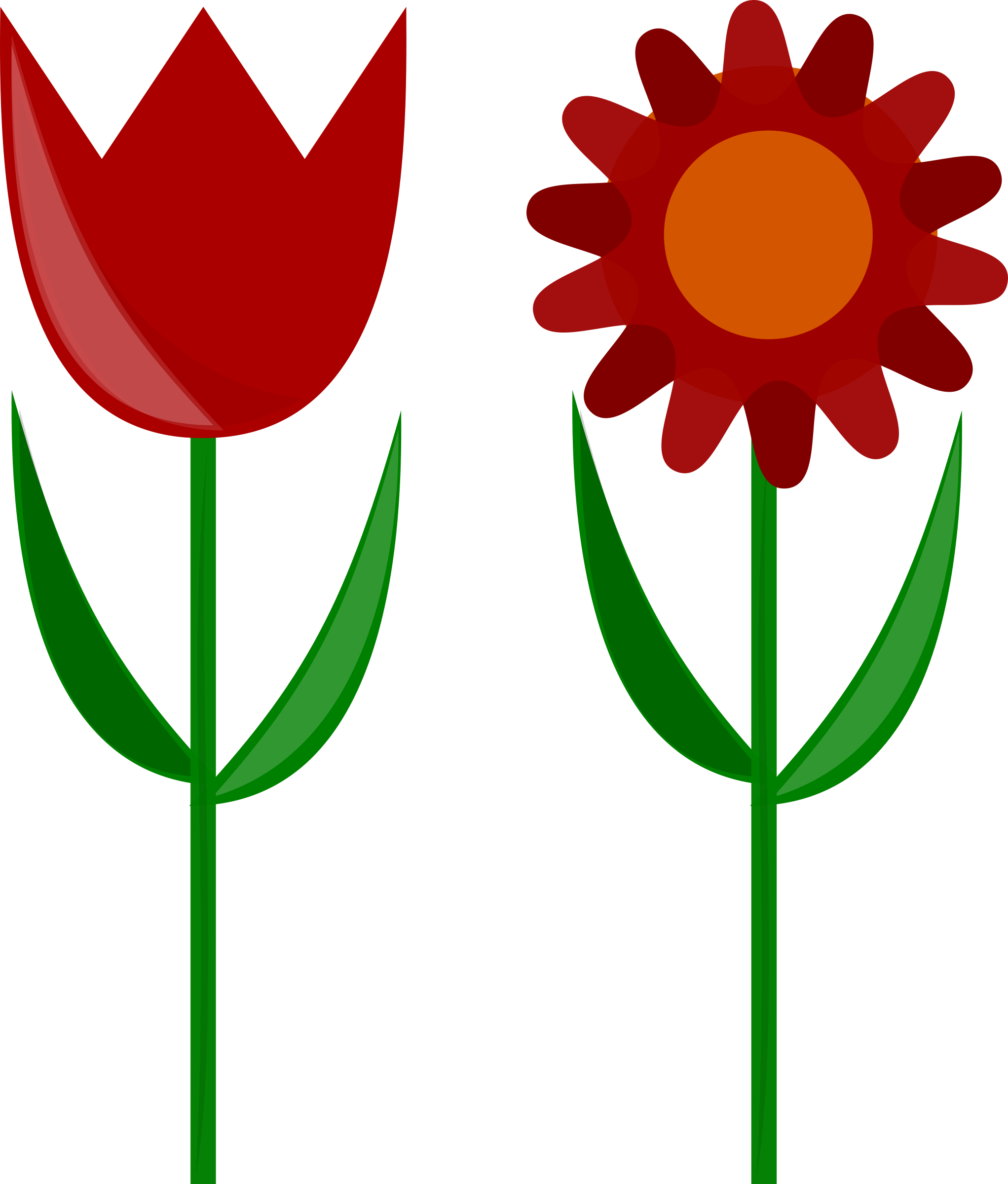 Flower with stem clipart. Flowers big image png