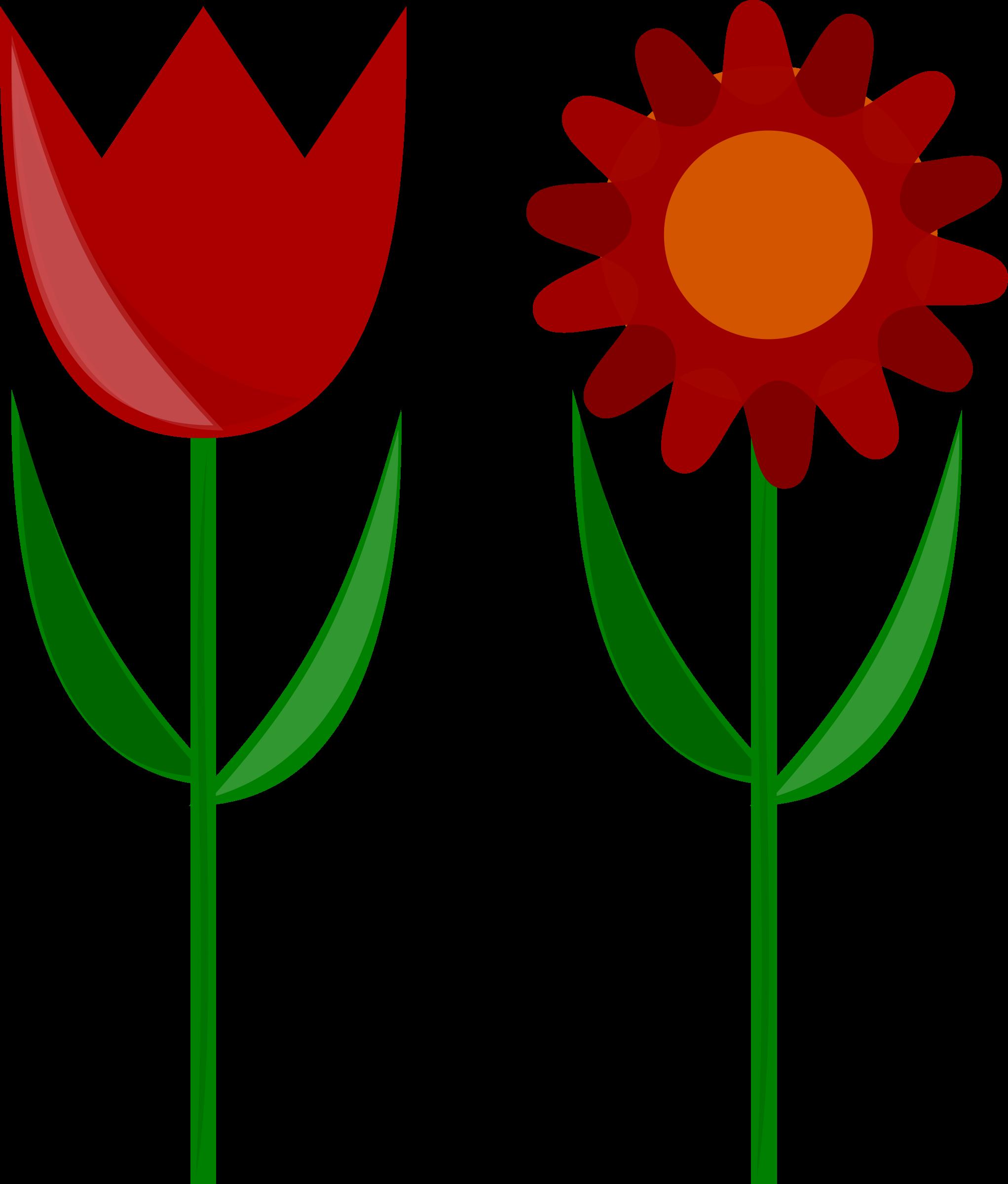 Flower stem clipart banner Clipart - Flowers banner