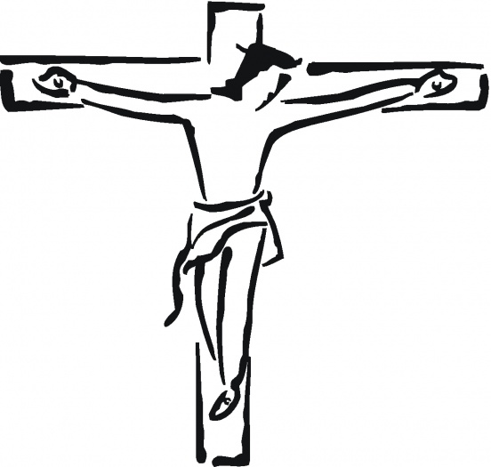 Clipart picture of jesus on the cross vector black and white Free Jesus On The Cross Clipart, Download Free Clip Art, Free Clip ... vector black and white